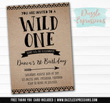 Wild One Invitation 7 - FREE thank you card