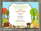 Woodland Baby Shower Invitation - FREE thank you card included