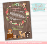 Woodland Birthday Invitation 5 - FREE thank you card