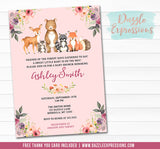 Watercolor Woodland Baby Shower Invitation - FREE thank you card