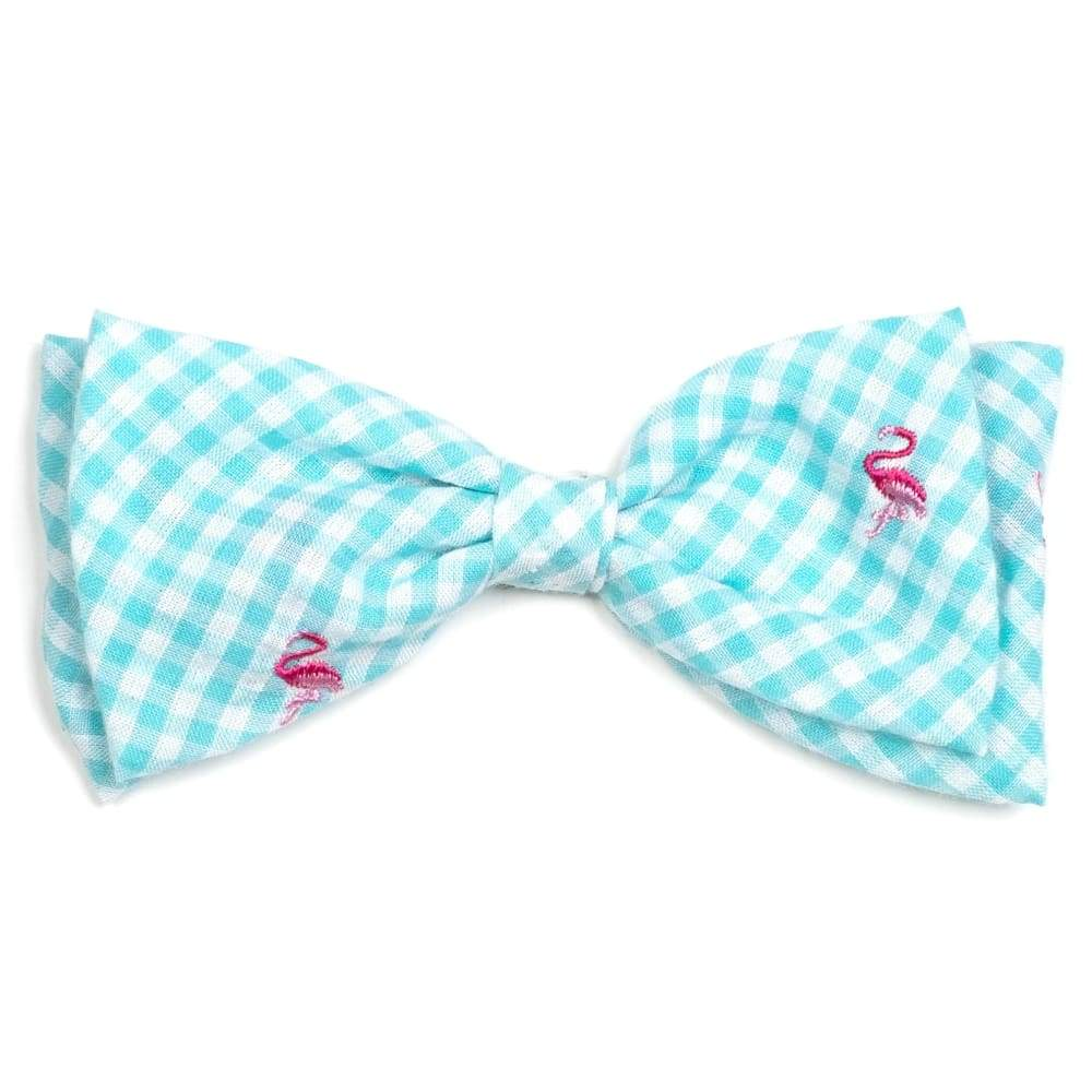 GINGHAM FLAMINGOS BOW TIE Bow Tie