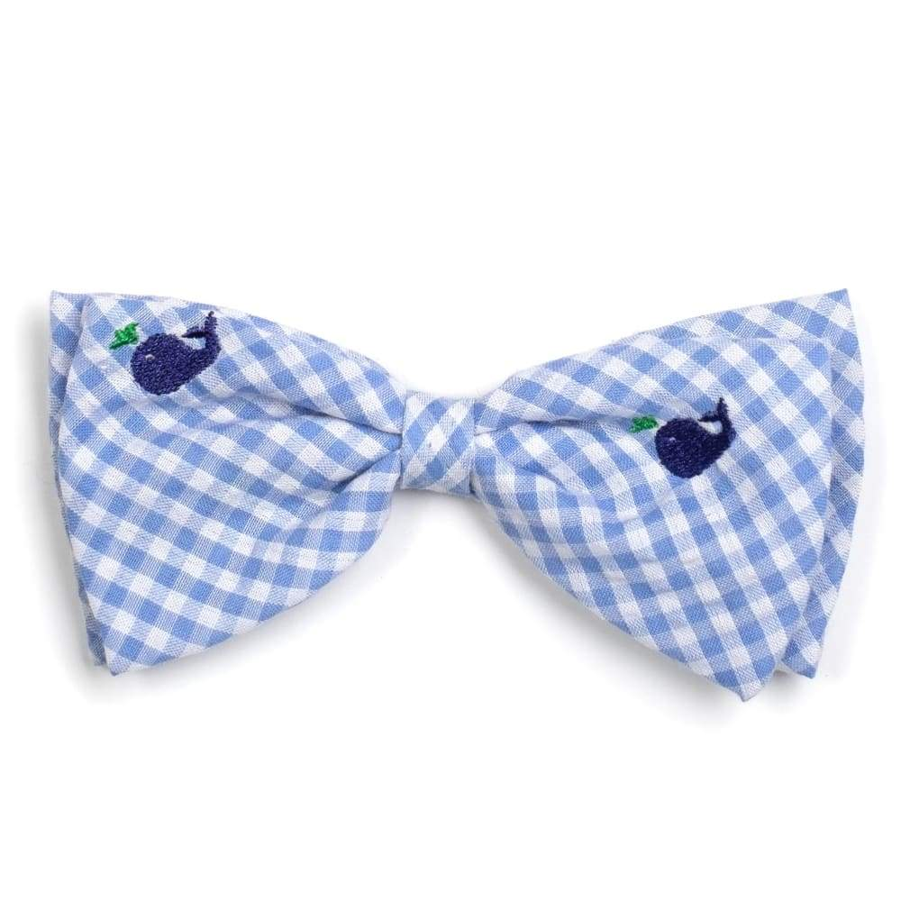 GINGHAM WHALES BOW TIE Bow Tie