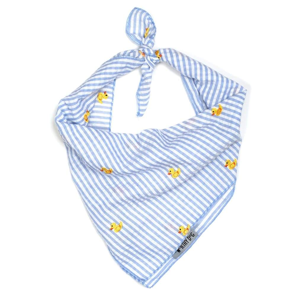 LT. BLUE STRIPE RUBBER DUCK BANDANA Bandana