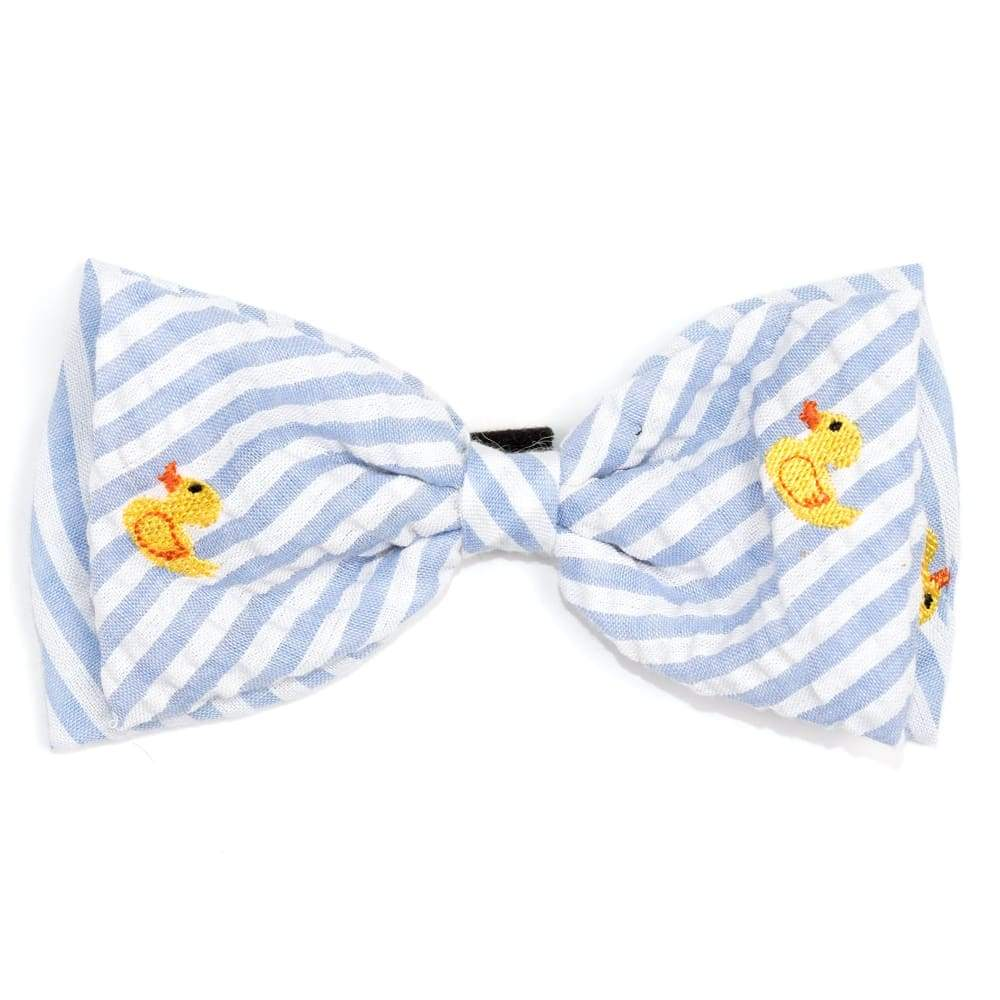 LT. BLUE STRIPE RUBBER DUCK BOW TIE Bow Tie
