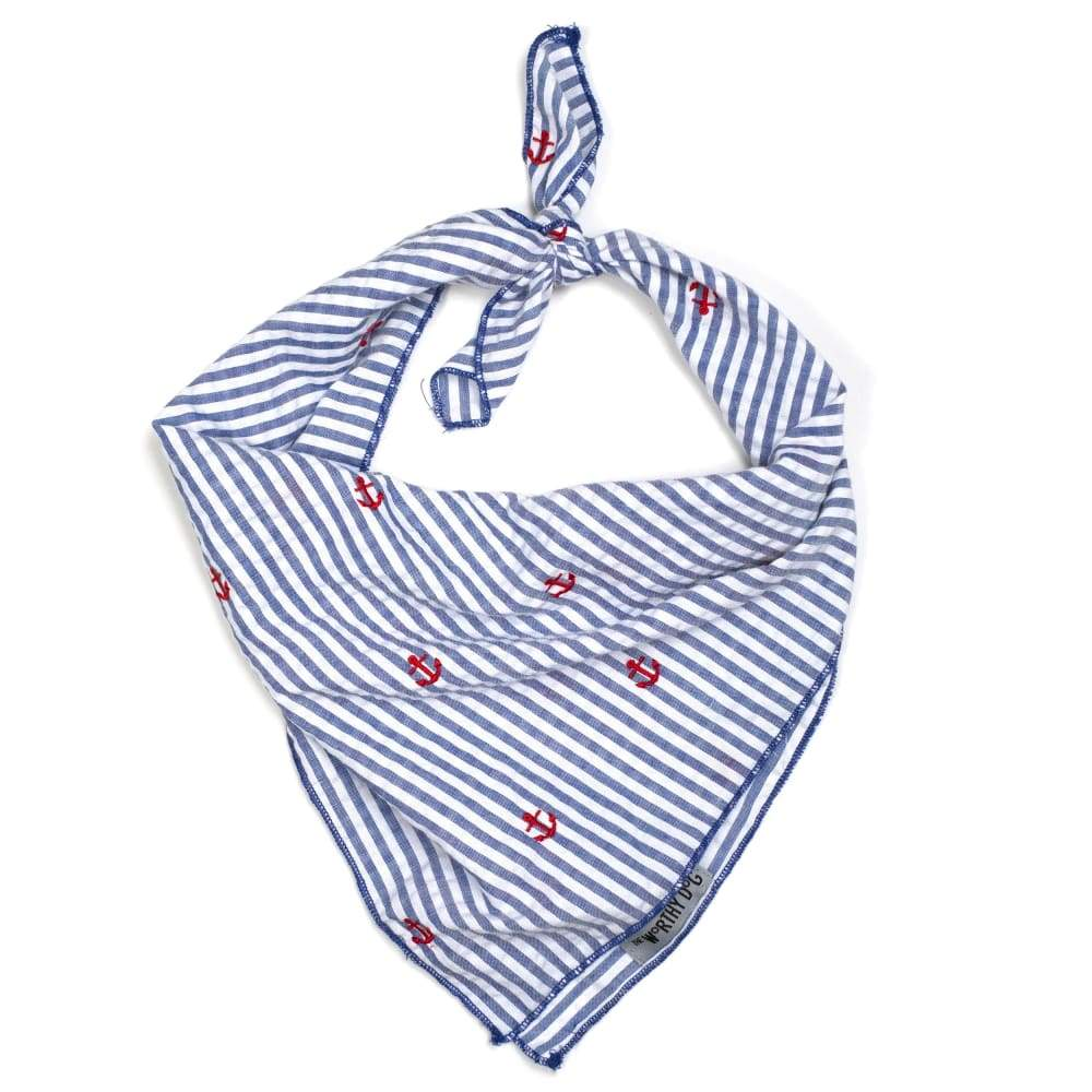NAVY STRIPE ANCHOR BANDANA Bandana