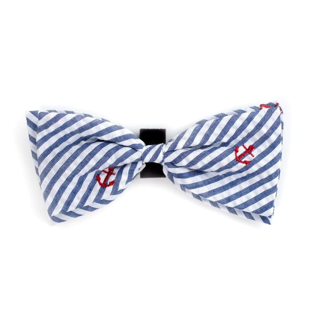 NAVY STRIPE ANCHOR BOW TIE Bow Tie