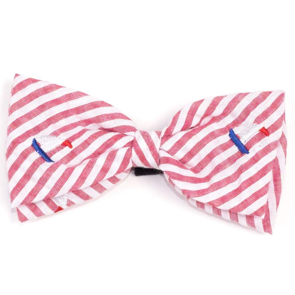 RED STRIPE SAILBOATS BOW TIE Bow Tie