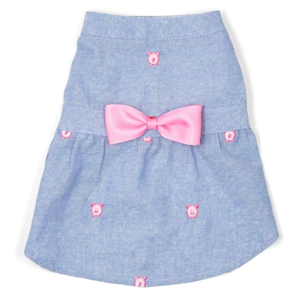 WILBUR THE PIG CHAMBRAY DRESS Dress