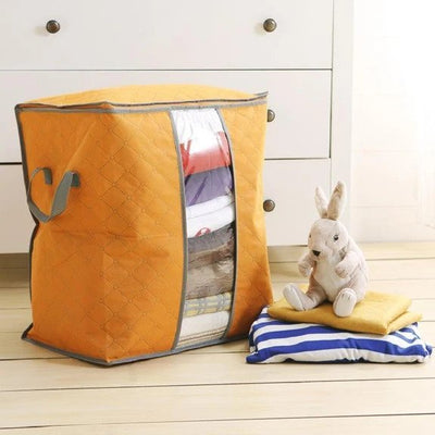 62L Folding Bamboo Charcoal Clothes Storage Bag