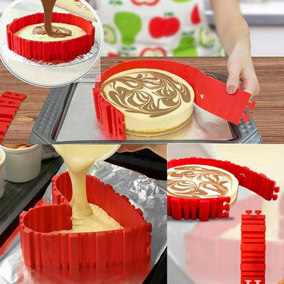 4 Pcs/set Silicone Magic Snake Cake Mold