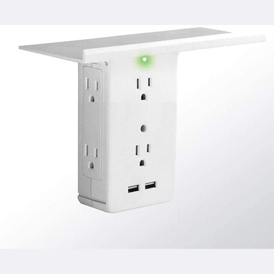 Wall Mount Surge Protector with Shelf