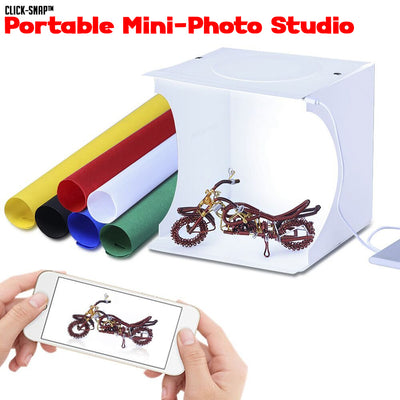 Click-Snap™ Portable Mini-Photo Studio