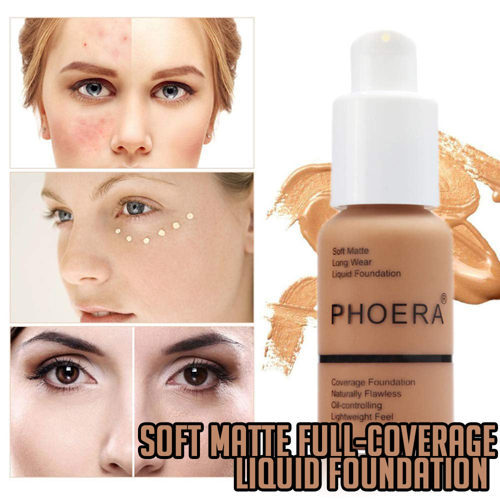 Soft Matte Full-Coverage Liquid Foundation