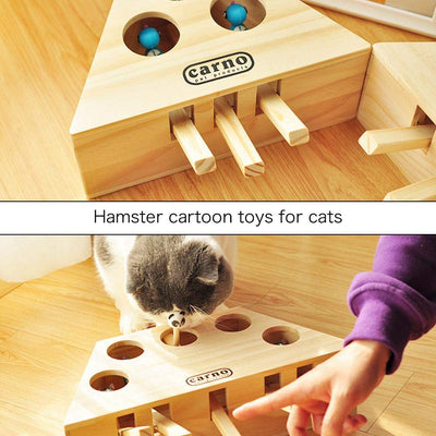 Interactive Cat Whack-a-Mouse Toy