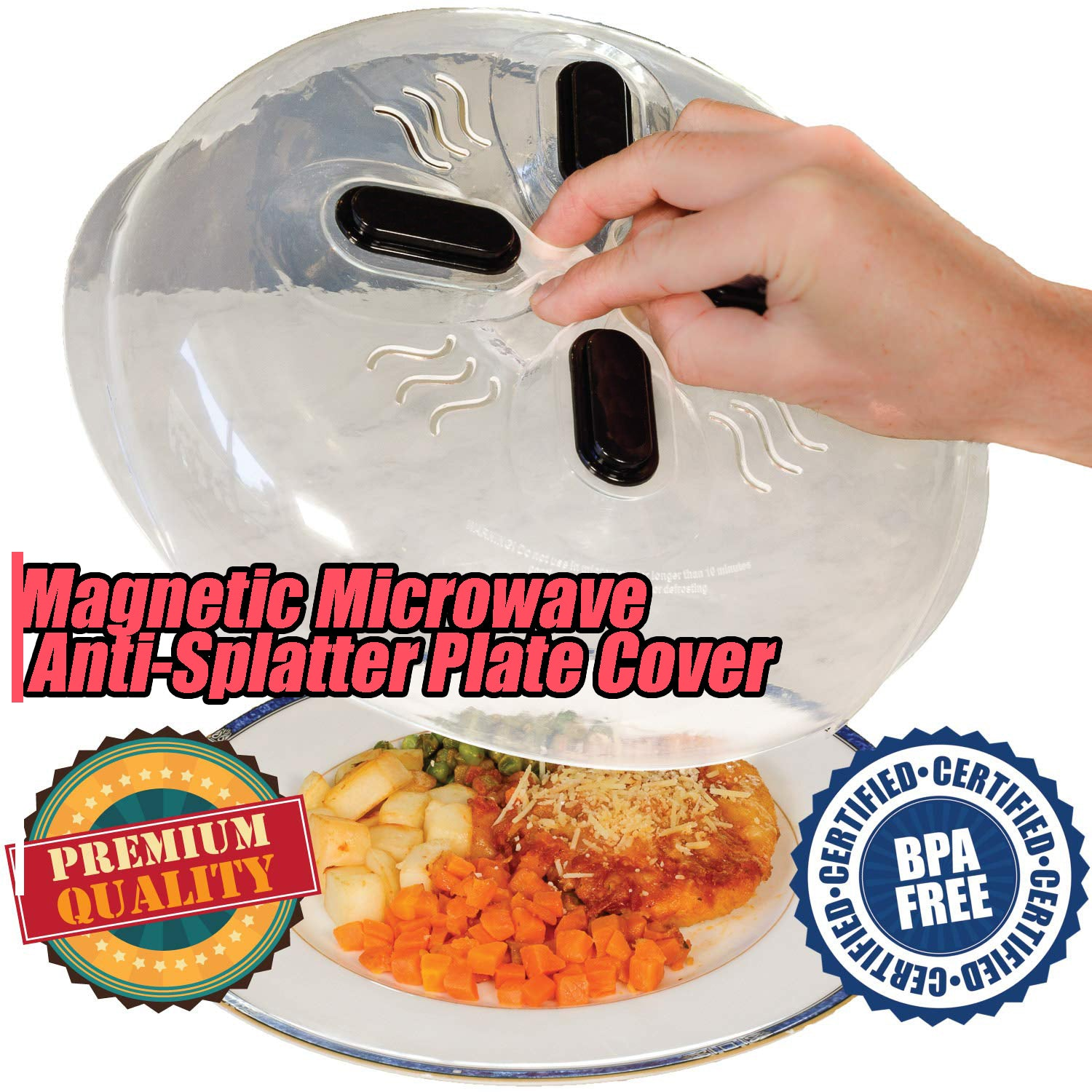 Magnetic Microwave Anti-Splatter Plate Cover