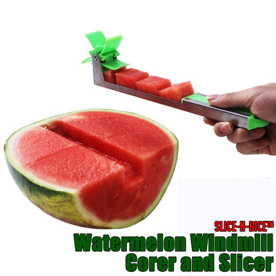 Slice-n-Dice™ Watermelon Windmill Corer and Slicer