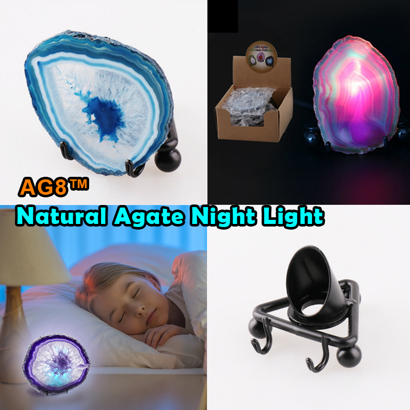 AG8™ Natural Agate Night Light