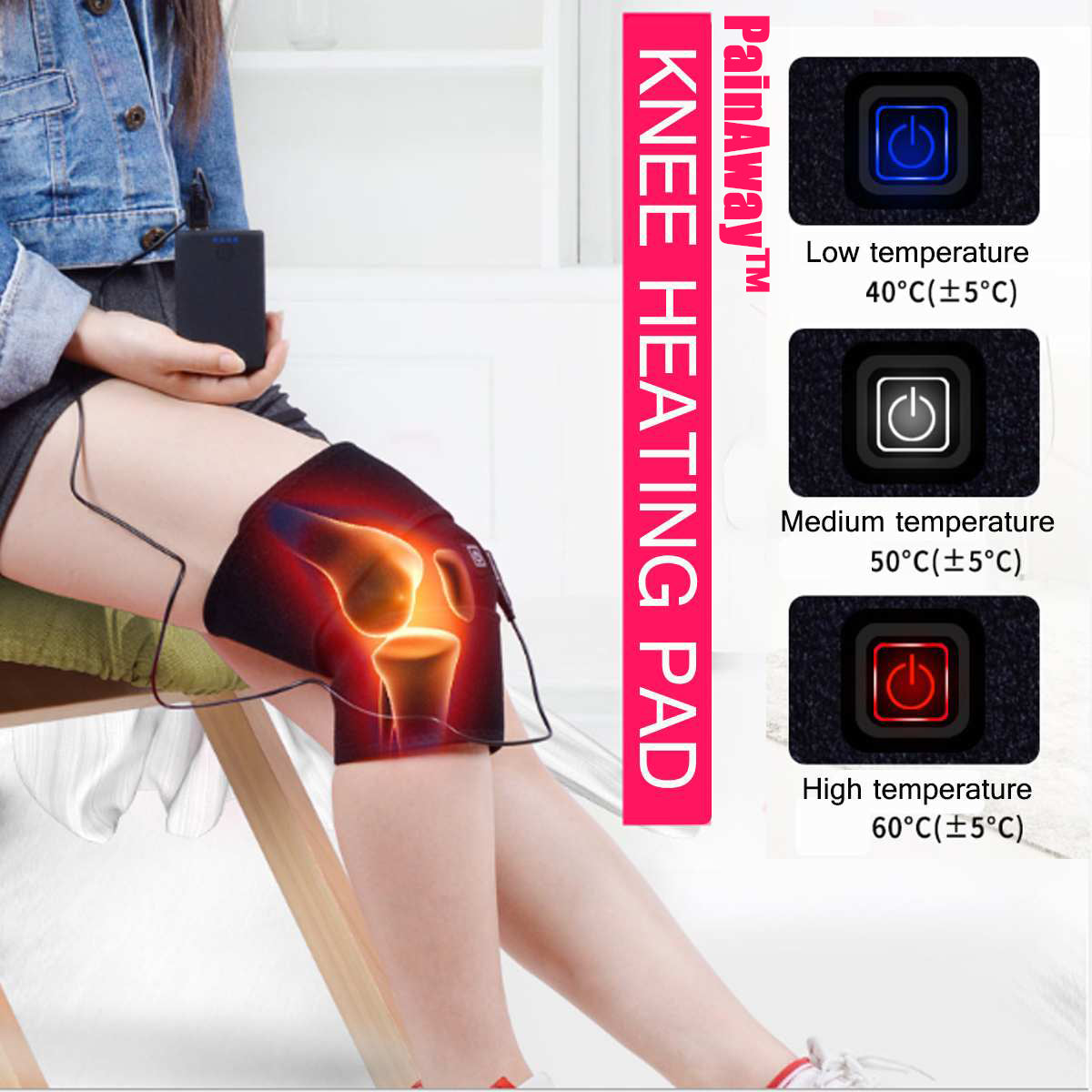 PainAway™ Knee Heating Pad