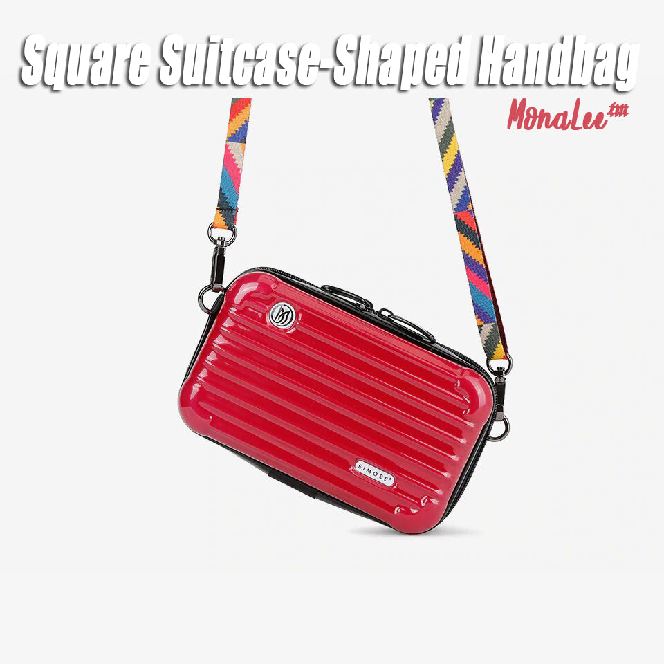 MonaLee™ Square Suitcase-Shaped Handbag
