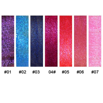 Glittery Flip Liquid Lipstick - SET of 7 Colors