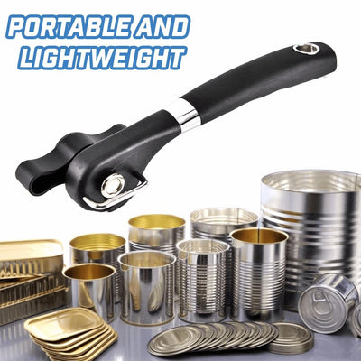 Safe Stainless Steel Cutting Can Opener