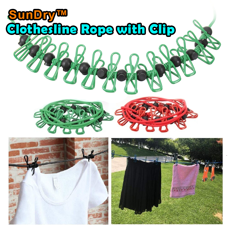 SunDry™ Clothesline Rope with Clip