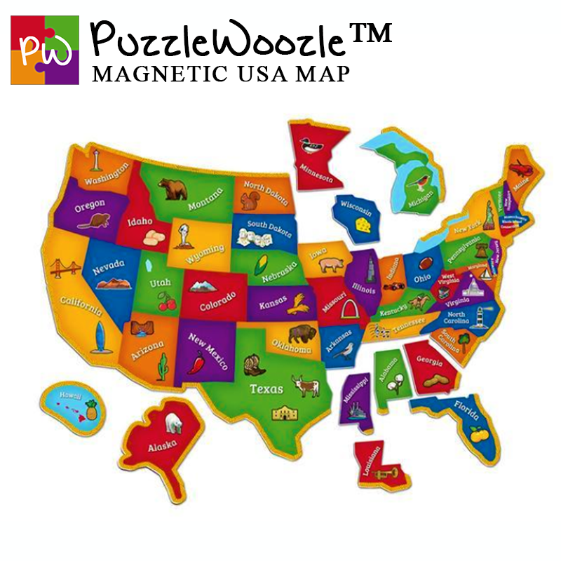 PuzzleWoozle™ Magnetic USA Map