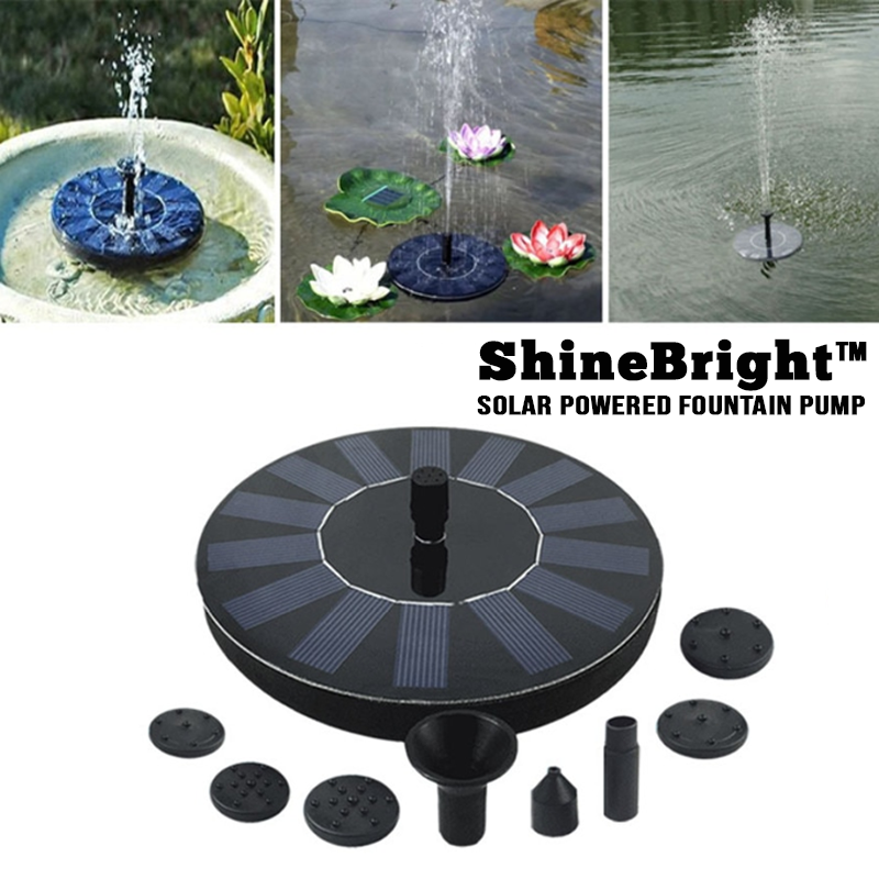 ShineBrite™ Solar Powered Fountain Pump