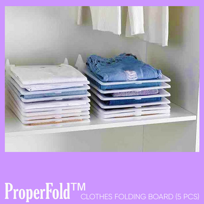 ProperFold™ Clothes Folding Board (5 pcs)