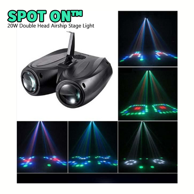 Spot On™ 20W Double Head Airship Stage Light