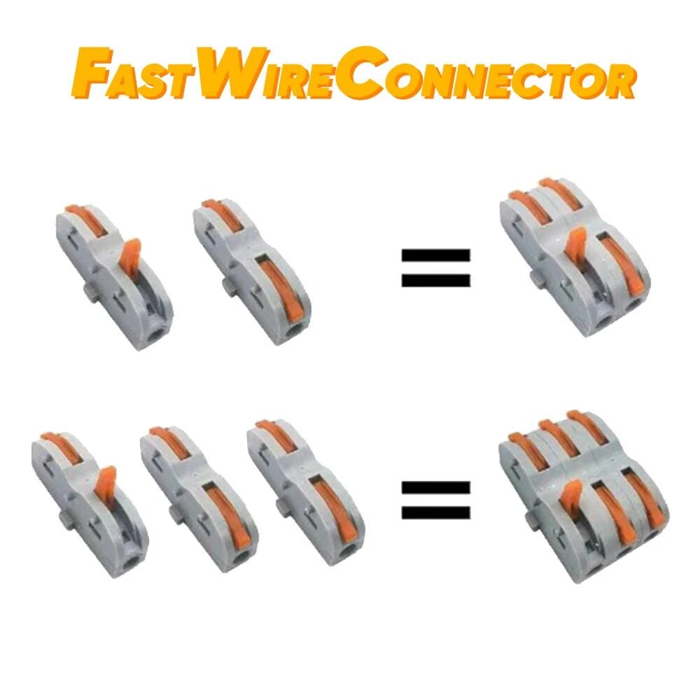 Fast Universal Compact Wiring Connector