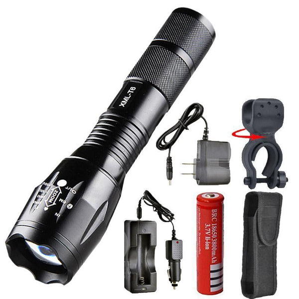 7200 Lumens LED Flashlight with Charger
