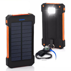 Waterproof Solar Power Bank 10000mah with LED Light