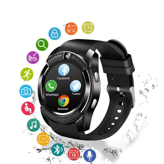Bluetooth Smart Watch 1.22 inch Round Screen with Camera