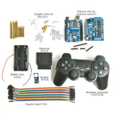 PS2 Joystick Control Shock Absorper Smart Robot Tank Chassis