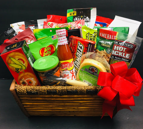gourmet gift baskets, snack gift baskets, unique gift baskets,