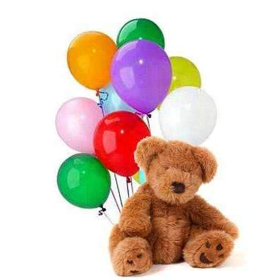 Bear & Balloons w/chocolate - Gift Baskets By Design SB, Inc.