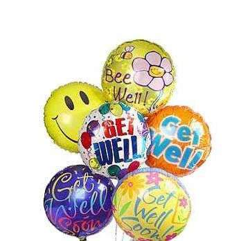 Get Well Balloon Bouquet-3 Sizes - Gift Baskets By Design SB, Inc.