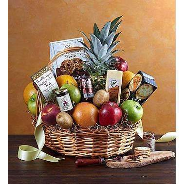 Fruit & Gourmet Deluxe- 3 Sizes - Gift Baskets By Design SB, Inc.