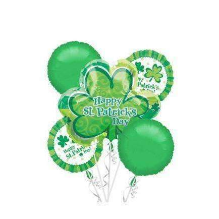 St. Patrick's Balloon Bouquet 2-sizes - Gift Baskets By Design SB