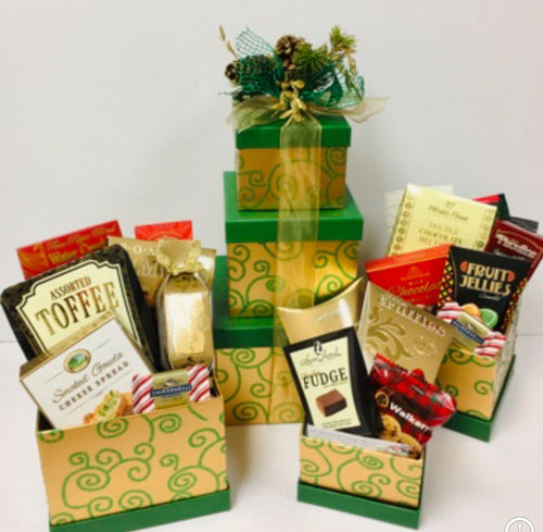 Deck The Halls Tower *New - Gift Baskets By Design SB, Inc.