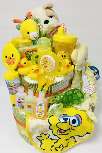 Big Bird Diaper Cake-2 Size - Gift Baskets By Design SB, Inc.