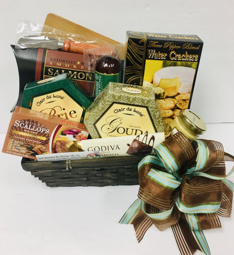 Meat & Cheese Treat-2 Sizes - Gift Baskets By Design SB, Inc.