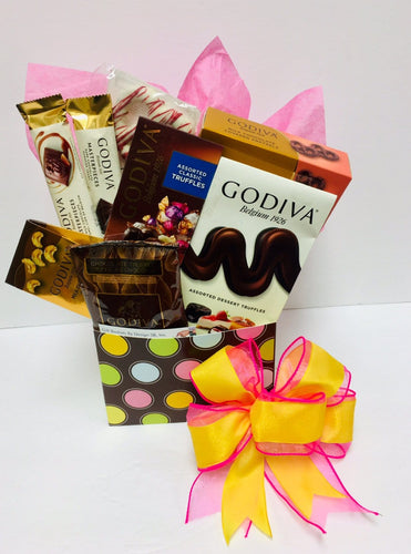 Godiva Galore-3 Style - Gift Baskets By Design SB, Inc.
