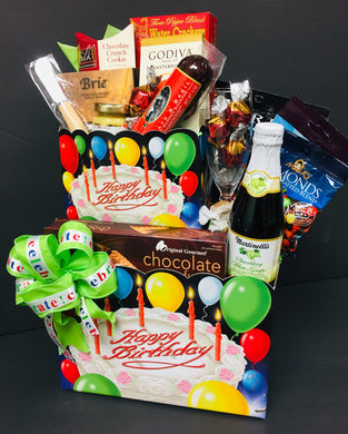 Unique Birthday W/Balloons - Gift Baskets By Design SB