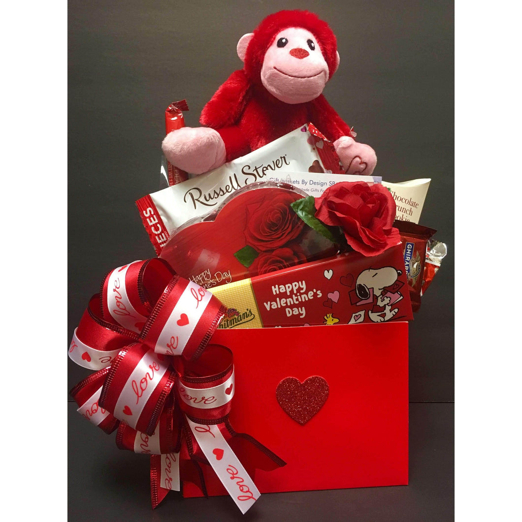 Gorilla Love w/Balloon - Gift Baskets By Design SB, Inc.