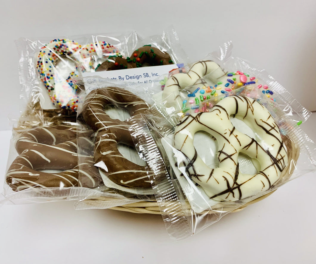 Chocolate Pretzels  2 Size - Gift Baskets By Design SB, Inc.