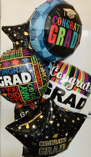 Graduation Balloons 4-Sizes *New - Gift Baskets By Design SB, Inc.