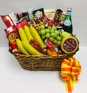 Ultimate Fruit & Snack Basket - Gift Baskets By Design SB