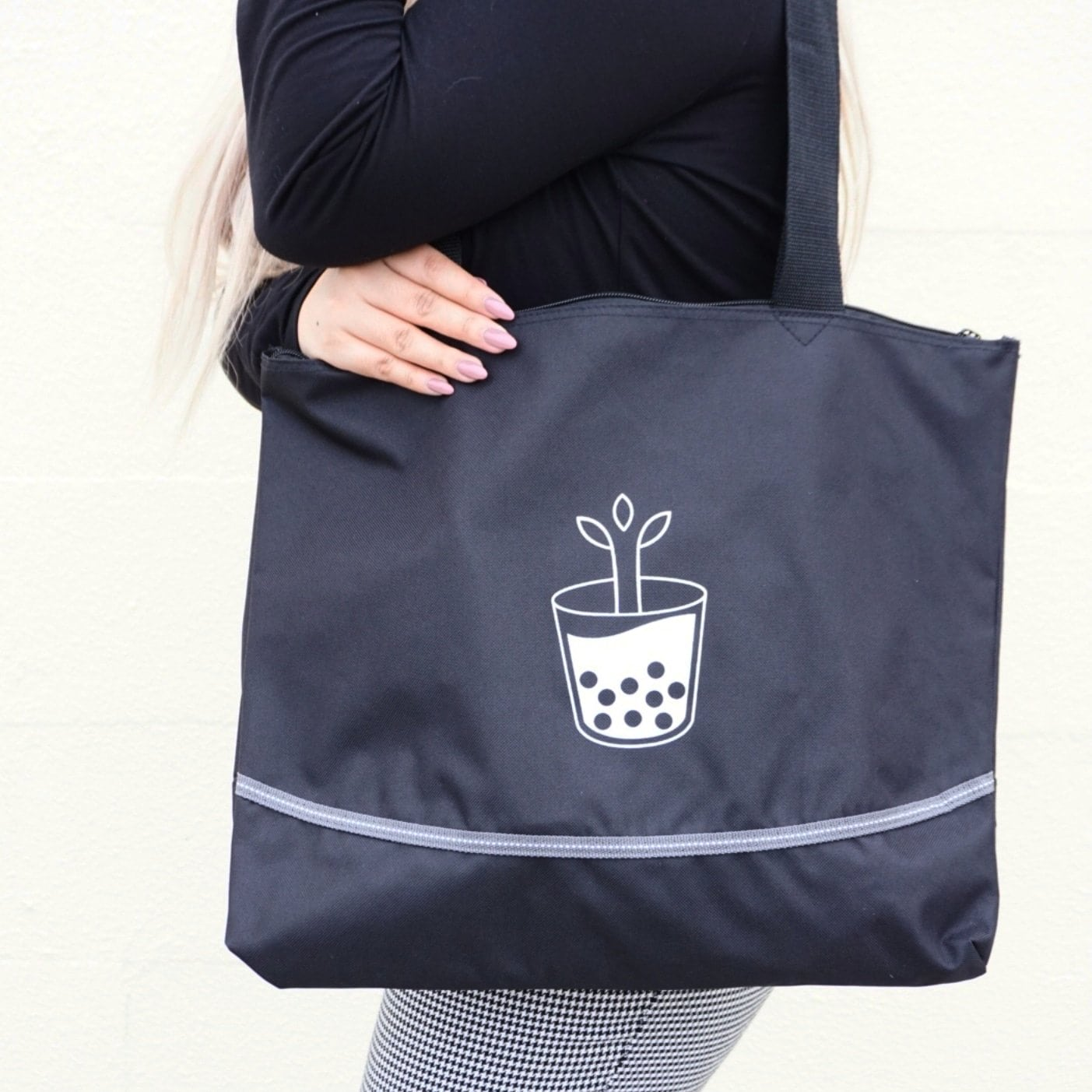 Zip Top Tote Boba Bag